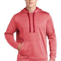 Unisex PosiCharge Heathered Fleece Hoodie Thumbnail